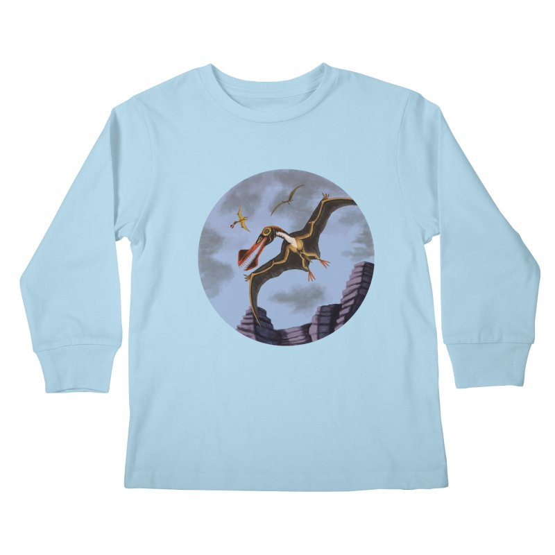 Terror in the Skies Kids Longsleeve T-Shirt by funnyfuse's Artist Shop