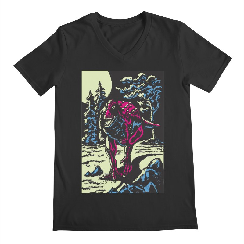 Night Predator Men's V-Neck by funnyfuse's Artist Shop