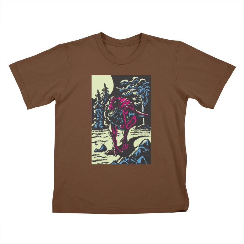 Night Predator Kids T-shirt by funnyfuse's Artist Shop