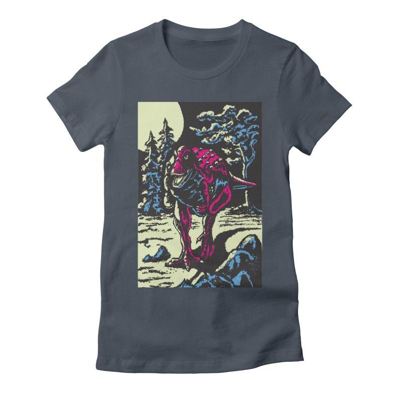 Night Predator Women's T-Shirt by funnyfuse's Artist Shop