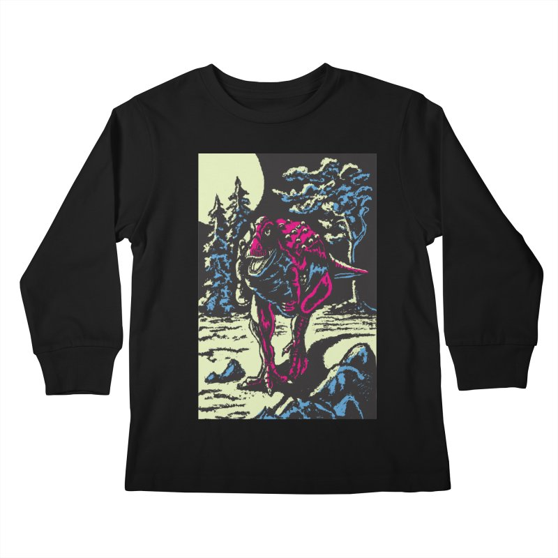 Night Predator Kids Longsleeve T-Shirt by funnyfuse's Artist Shop