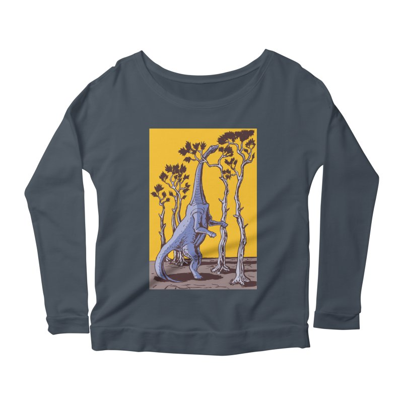 Reaching for the Treetops Women's Longsleeve Scoopneck  by funnyfuse's Artist Shop