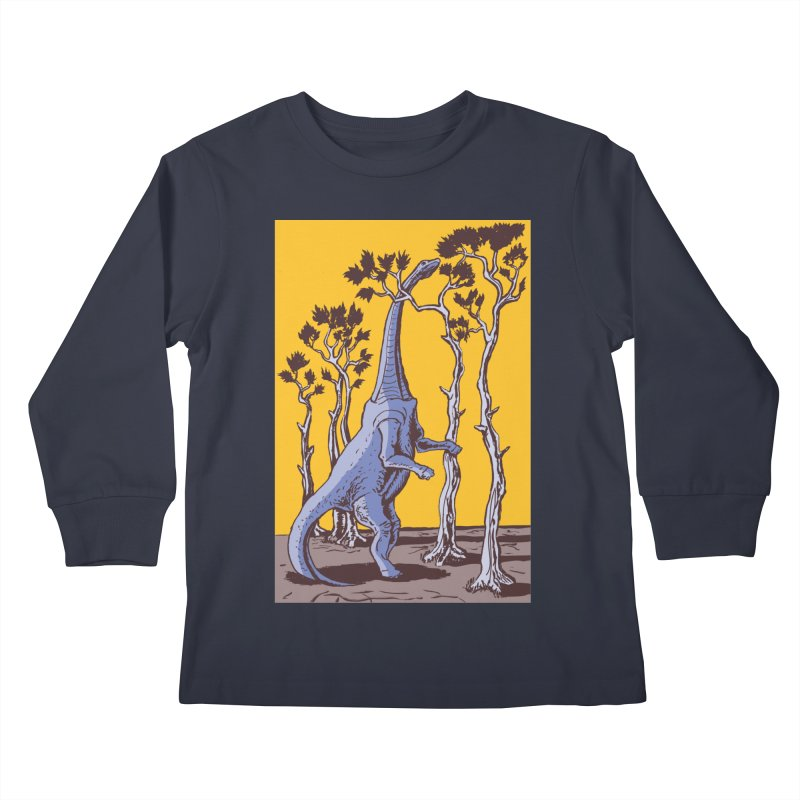 Reaching for the Treetops Kids Longsleeve T-Shirt by funnyfuse's Artist Shop