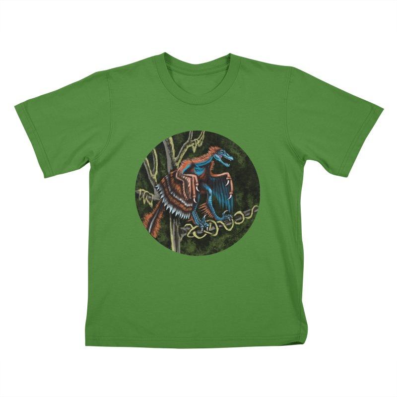 Air Raptor Kids T-Shirt by funnyfuse's Artist Shop