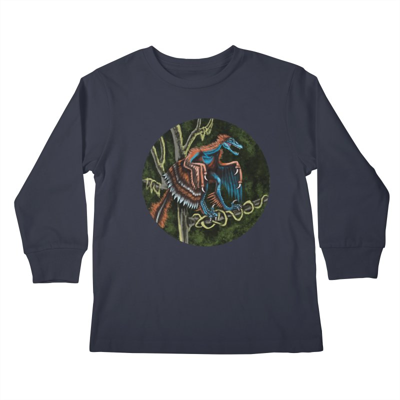 Air Raptor Kids Longsleeve T-Shirt by funnyfuse's Artist Shop