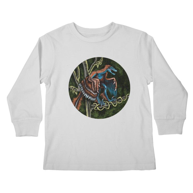 Air Raptor Kids Longsleeve T-Shirt by funnyfuse's Artist Shop