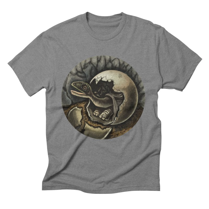 Baby Dino Men's Triblend T-shirt by funnyfuse's Artist Shop