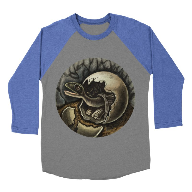 Baby Dino Women's Baseball Triblend T-Shirt by funnyfuse's Artist Shop