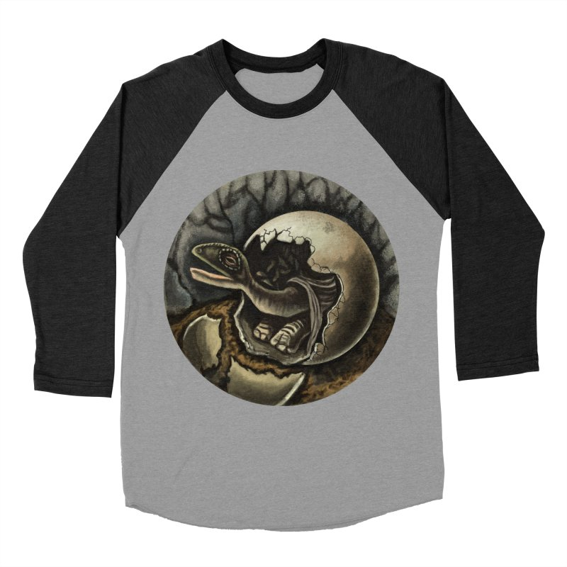 Baby Dino Men's Baseball Triblend T-Shirt by funnyfuse's Artist Shop