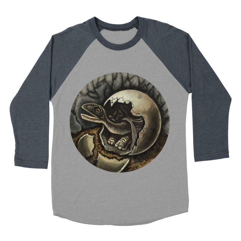 Baby Dino Men's Baseball Triblend Longsleeve T-Shirt by funnyfuse's Artist Shop