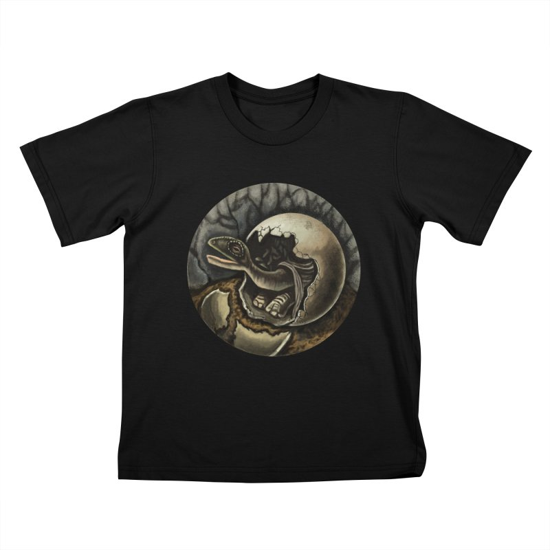 Baby Dino Kids T-Shirt by funnyfuse's Artist Shop