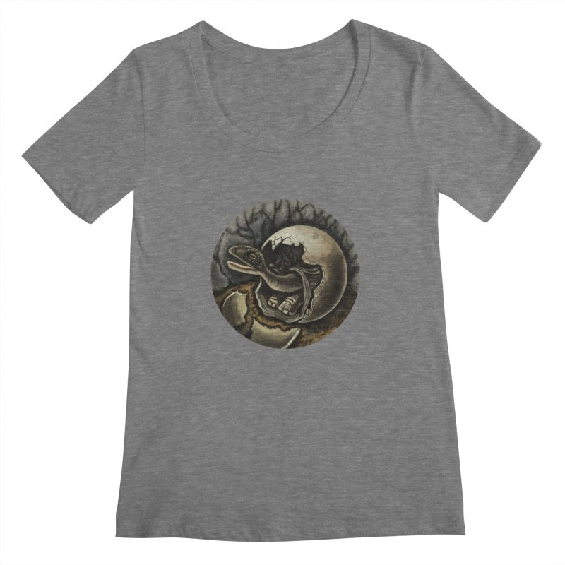 Baby Dino Women's Scoopneck by funnyfuse's Artist Shop