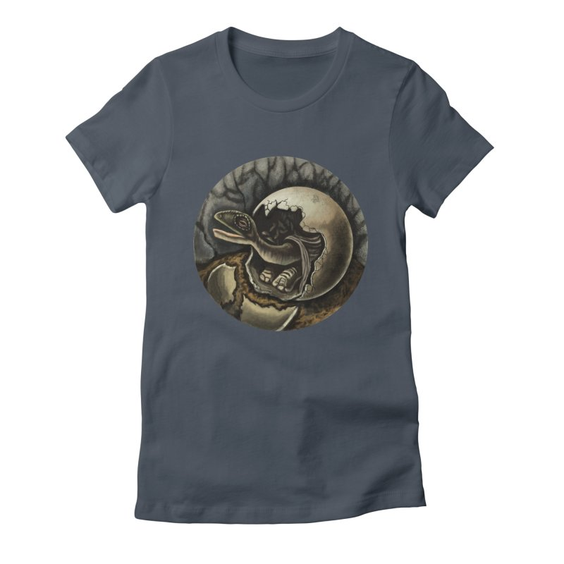 Baby Dino Women's Fitted T-Shirt by funnyfuse's Artist Shop