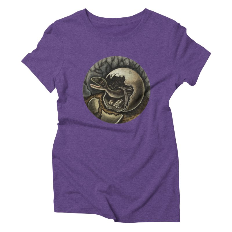 Baby Dino Women's Triblend T-shirt by funnyfuse's Artist Shop