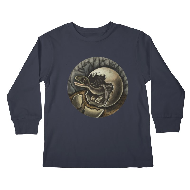 Baby Dino Kids Longsleeve T-Shirt by funnyfuse's Artist Shop