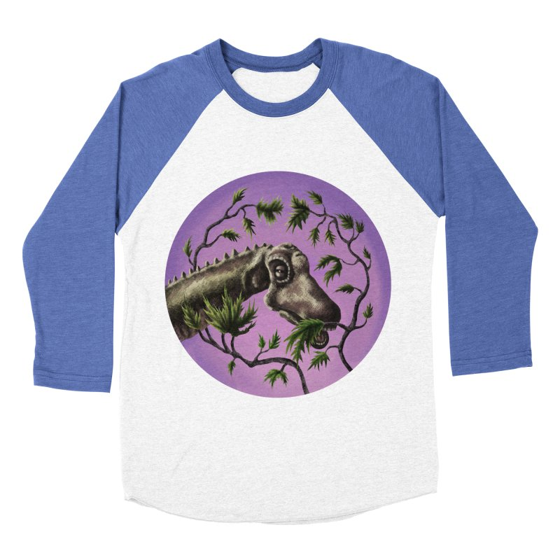 Diplodocus Men's Baseball Triblend Longsleeve T-Shirt by funnyfuse's Artist Shop