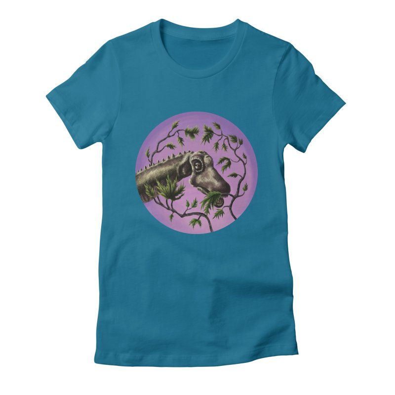 Diplodocus Women's Fitted T-Shirt by funnyfuse's Artist Shop