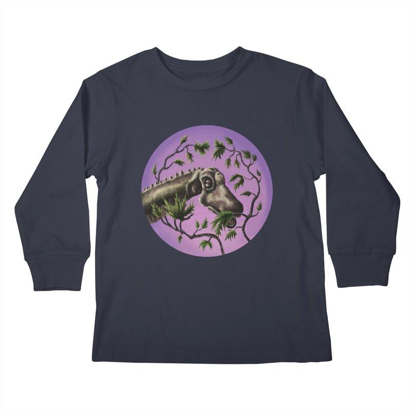 Diplodocus Kids Longsleeve T-Shirt by funnyfuse's Artist Shop