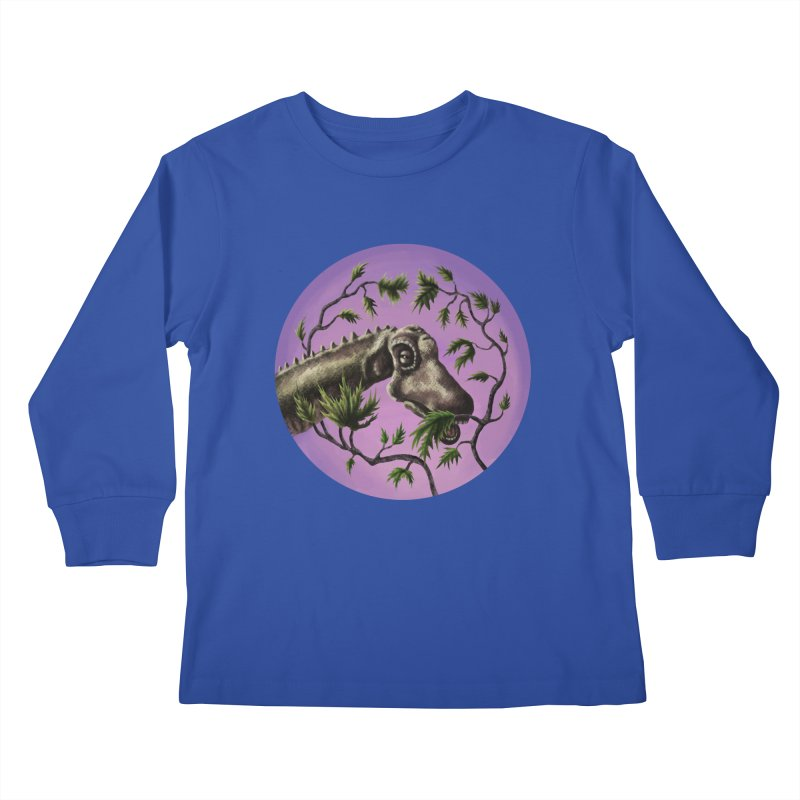 Diplodocus Kids Longsleeve T-Shirt by funnyfuse's Artist Shop