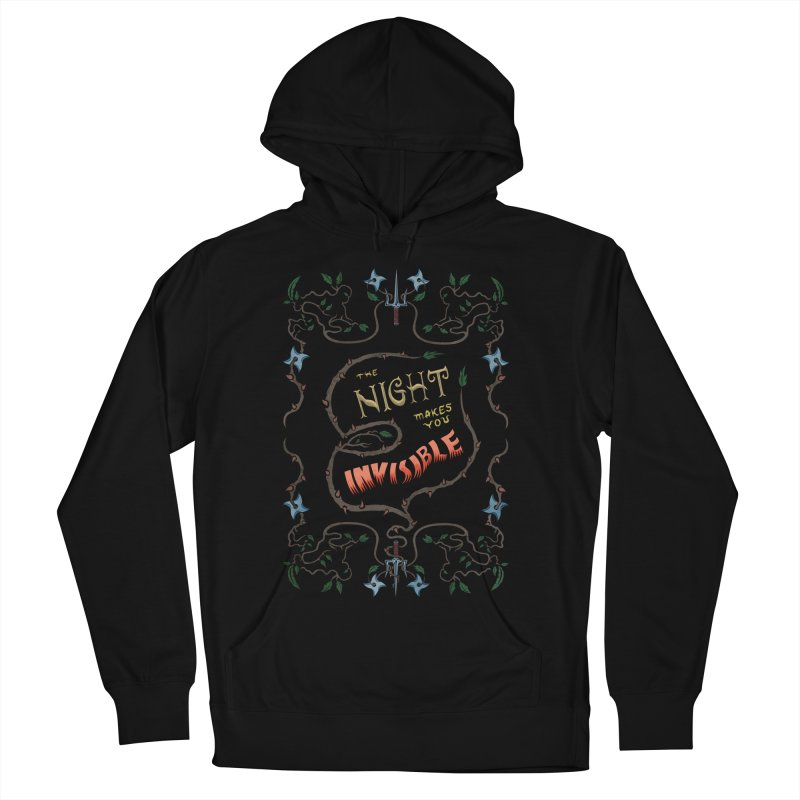 Ninja Typography Women's French Terry Pullover Hoody by funnyfuse's Artist Shop