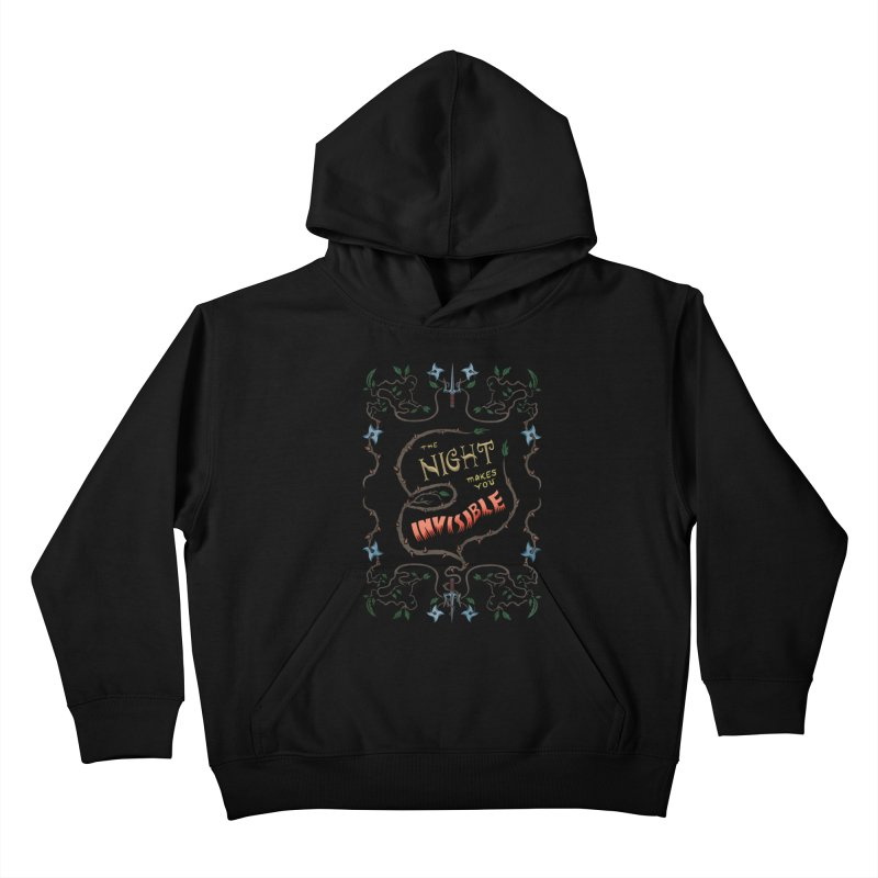 Ninja Typography Kids Pullover Hoody by funnyfuse's Artist Shop