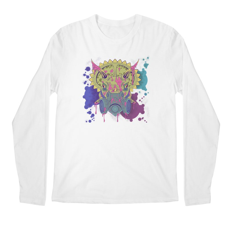 Tricera-paint Men's Longsleeve T-Shirt by funnyfuse's Artist Shop