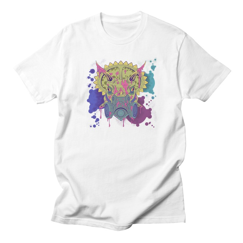 Tricera-paint Men's Regular T-Shirt by funnyfuse's Artist Shop