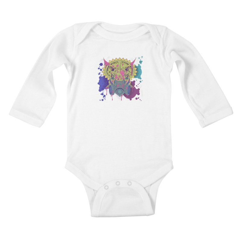 Tricera-paint Kids Baby Longsleeve Bodysuit by funnyfuse's Artist Shop