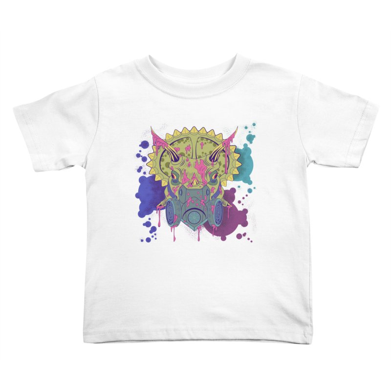 Tricera-paint Kids Toddler T-Shirt by funnyfuse's Artist Shop