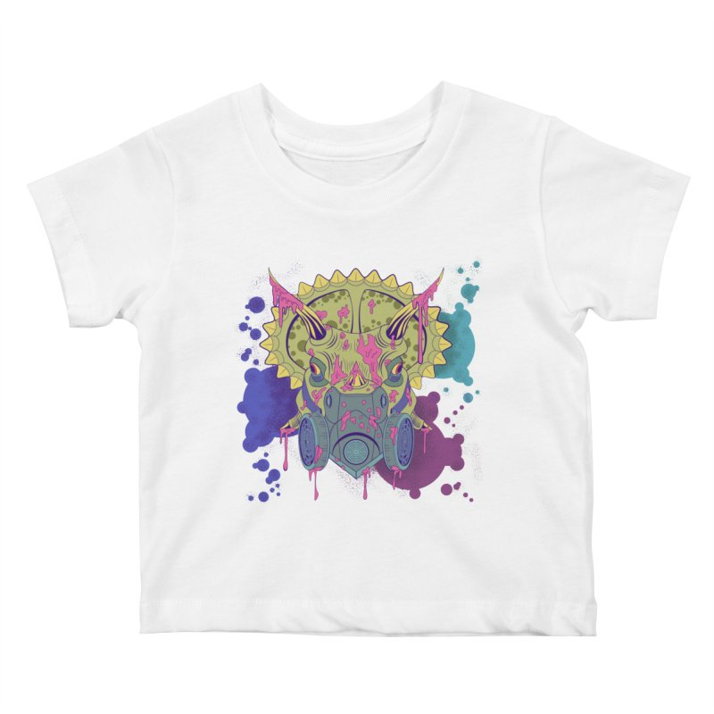 Tricera-paint Kids Baby T-Shirt by funnyfuse's Artist Shop