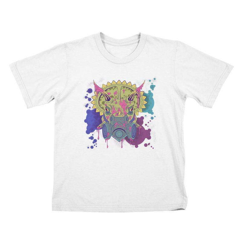 Tricera-paint Kids T-Shirt by funnyfuse's Artist Shop