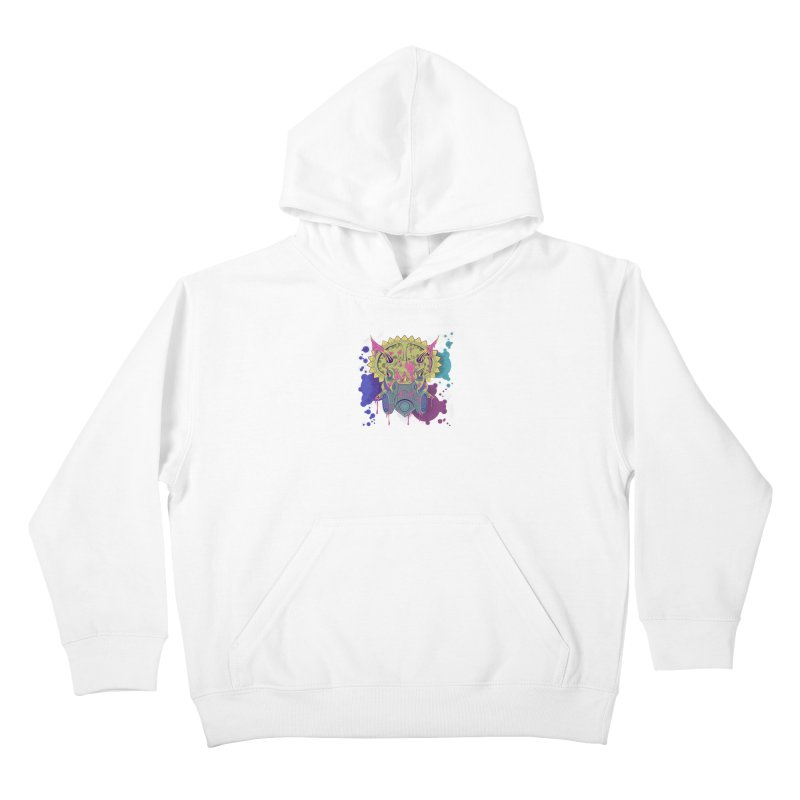 Tricera-paint Kids Pullover Hoody by funnyfuse's Artist Shop