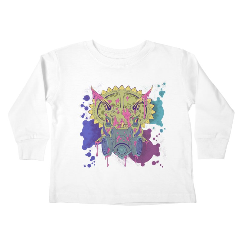 Tricera-paint Kids Toddler Longsleeve T-Shirt by funnyfuse's Artist Shop