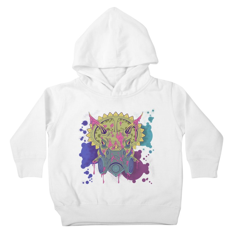 Tricera-paint Kids Toddler Pullover Hoody by funnyfuse's Artist Shop