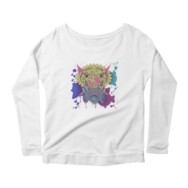 Tricera-paint Women's Scoop Neck Longsleeve T-Shirt by funnyfuse's Artist Shop