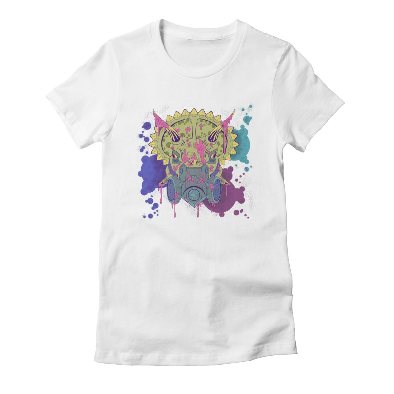 Tricera-paint Women's Fitted T-Shirt by funnyfuse's Artist Shop