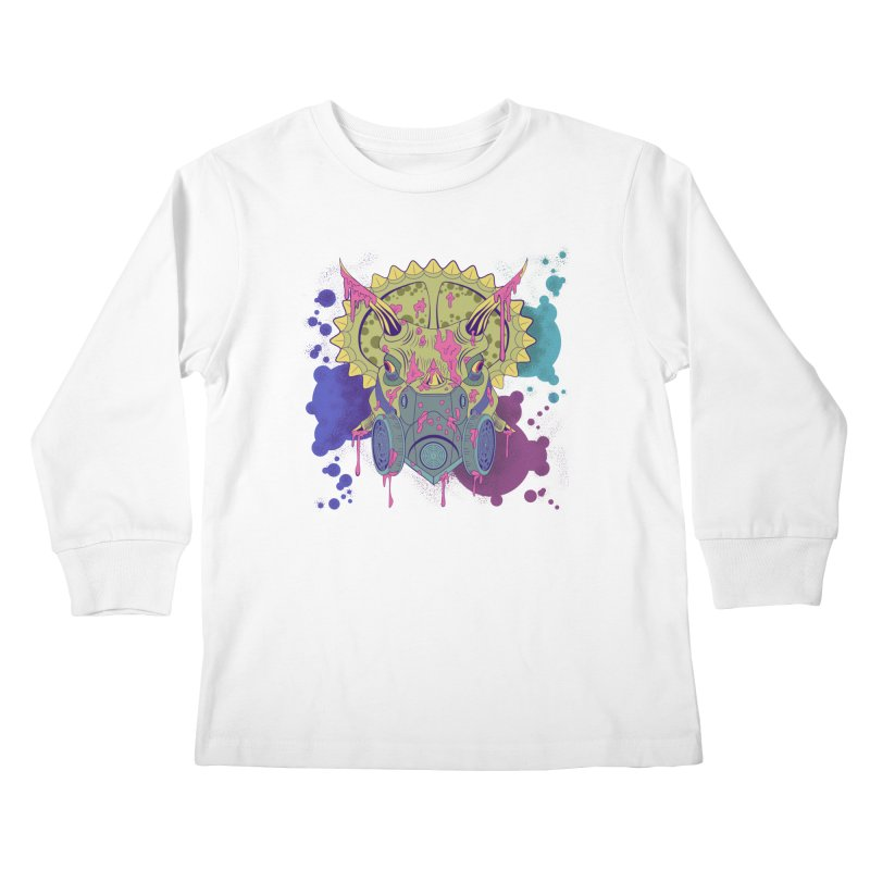 Tricera-paint Kids Longsleeve T-Shirt by funnyfuse's Artist Shop