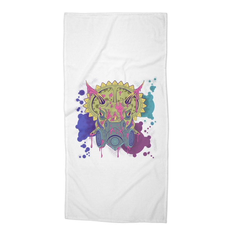 Tricera-paint Accessories Beach Towel by funnyfuse's Artist Shop