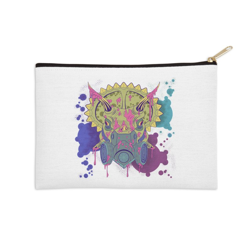 Tricera-paint Accessories Zip Pouch by funnyfuse's Artist Shop