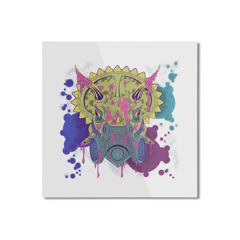 Tricera-paint Home Mounted Aluminum Print by funnyfuse's Artist Shop