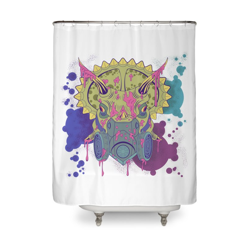 Tricera-paint Home Shower Curtain by funnyfuse's Artist Shop