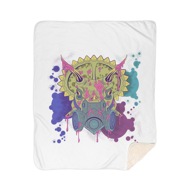 Tricera-paint Home Blanket by funnyfuse's Artist Shop