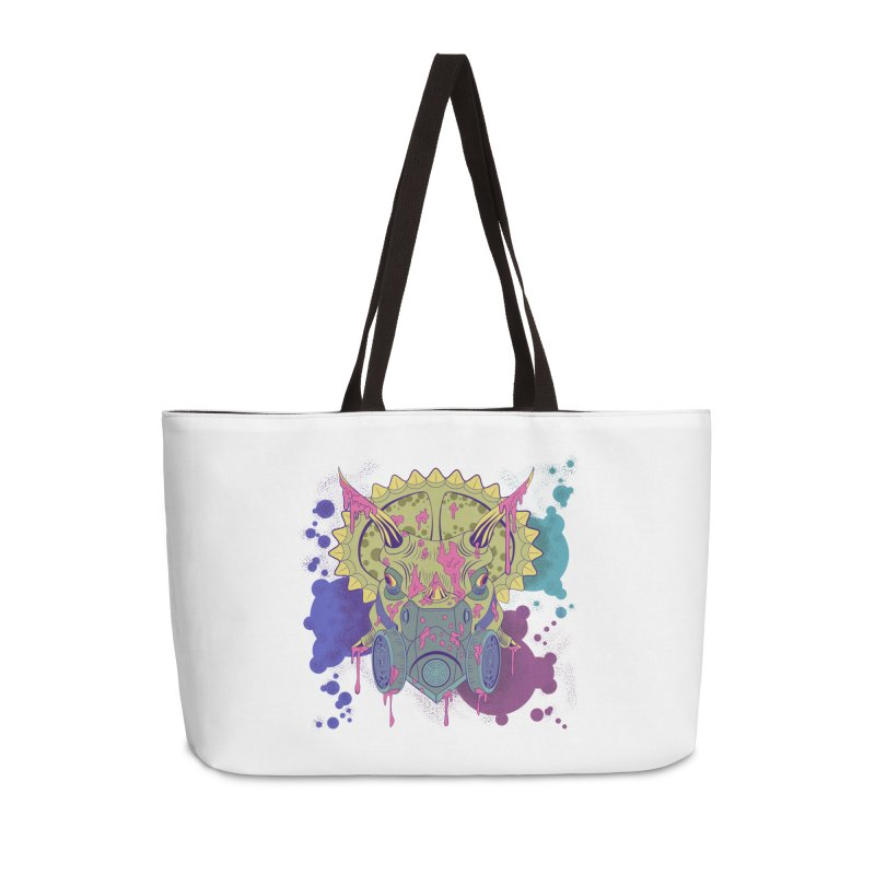 Tricera-paint Accessories Weekender Bag Bag by funnyfuse's Artist Shop