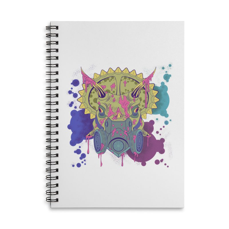 Tricera-paint Accessories Lined Spiral Notebook by funnyfuse's Artist Shop