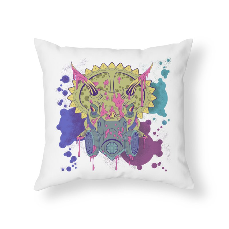 Tricera-paint Home Throw Pillow by funnyfuse's Artist Shop