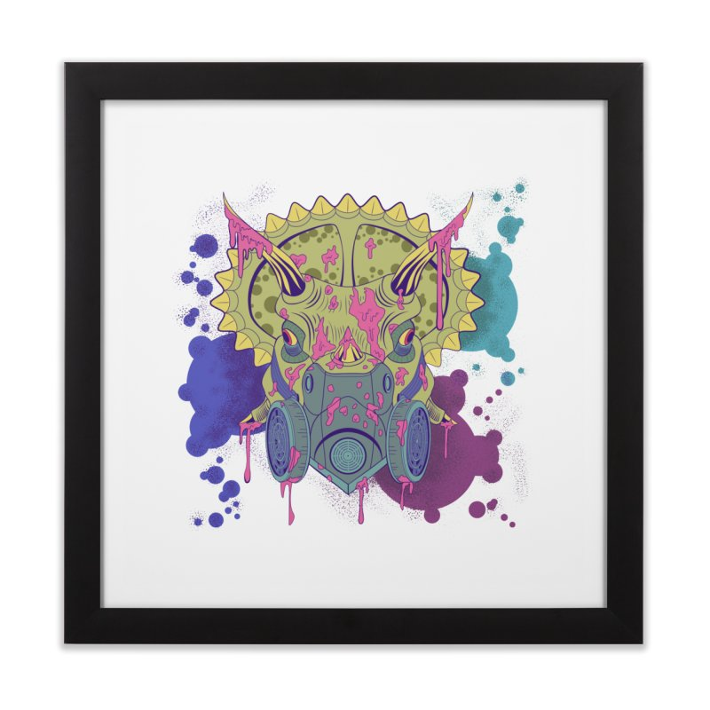 Tricera-paint Home Framed Fine Art Print by funnyfuse's Artist Shop