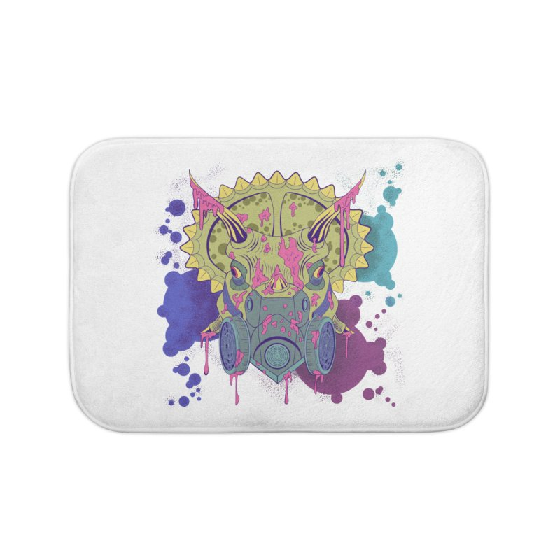 Tricera-paint Home Bath Mat by funnyfuse's Artist Shop