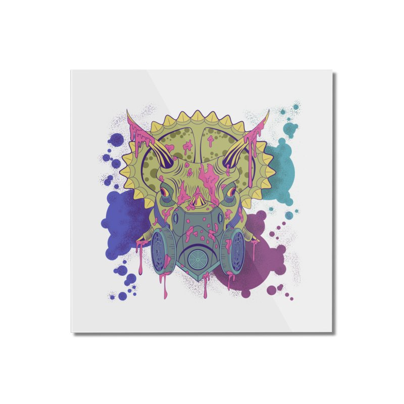 Tricera-paint Home Mounted Acrylic Print by funnyfuse's Artist Shop