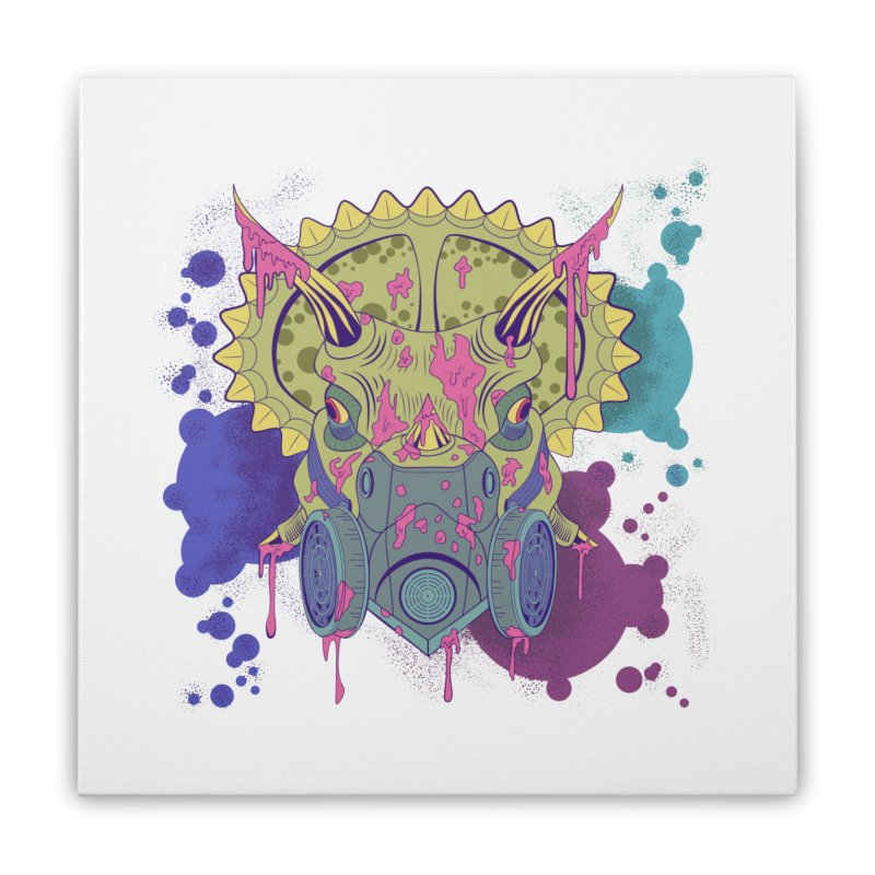 Tricera-paint Home Stretched Canvas by funnyfuse's Artist Shop