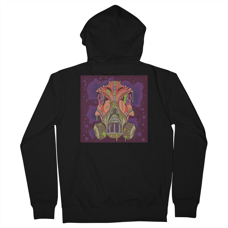 Graffiti Rex Men's French Terry Zip-Up Hoody by funnyfuse's Artist Shop